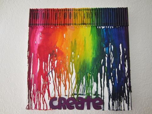 Melted-Crayon-Art