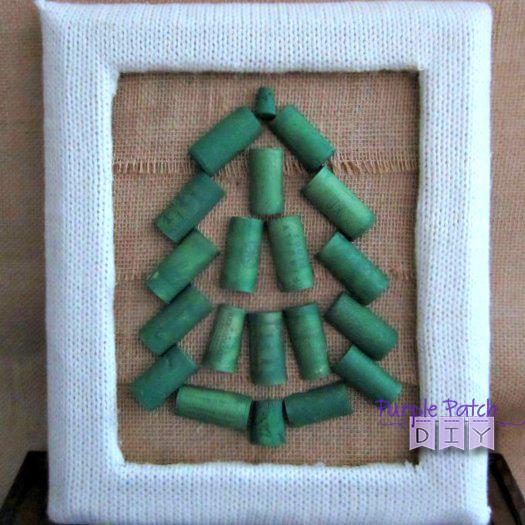 Wine Cork Christmas Crafts.Wine Cork Christmas Tree Giveaway Purple Patch Diy