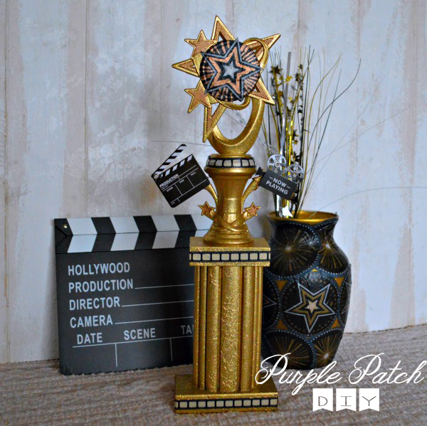 Oscars theme party decorations purple patch diy crafts blog for Awards decoration