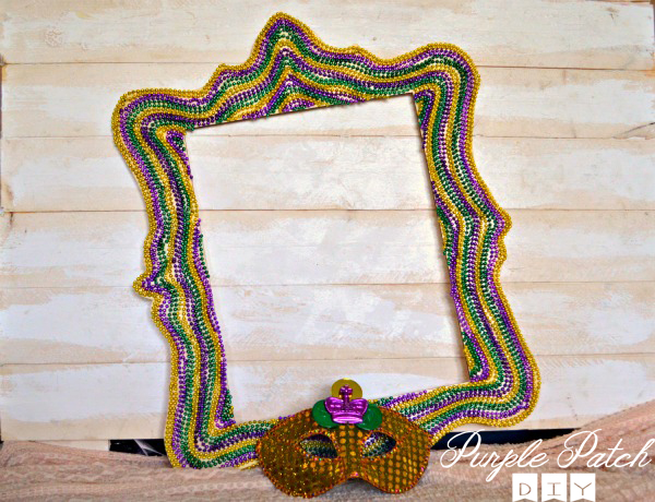 Diy Mardi Gras Frame Purple Patch Diy Craft Website