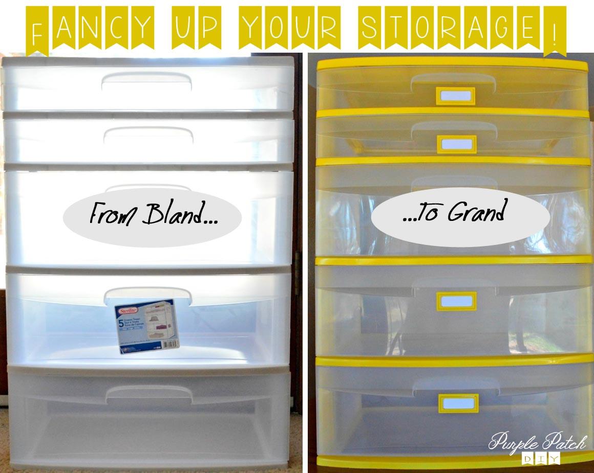Craft storage drawers plastic - Storage Organizer Redo